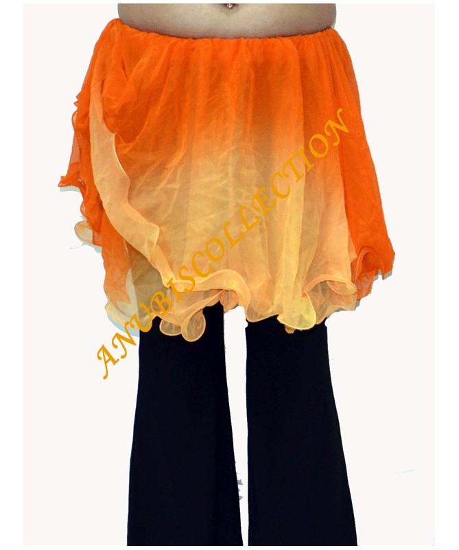 Mini falda de doble gasa